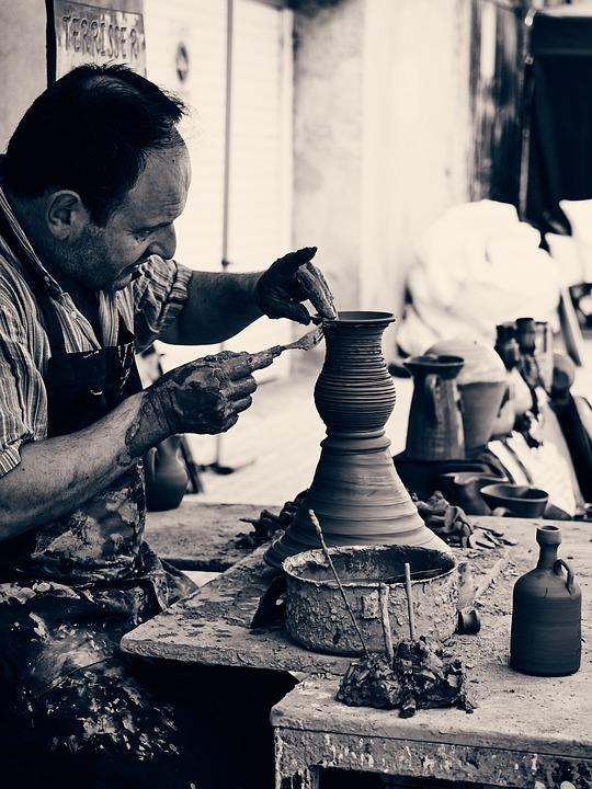 Potter, Clay, Craft, Ceramic, Making, Hand, Creativity
