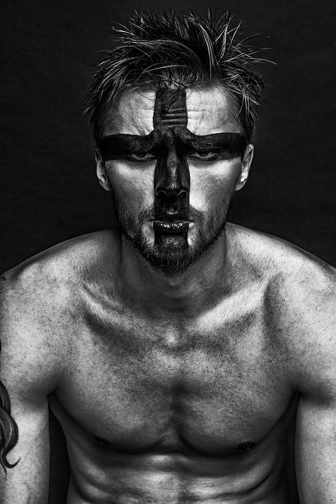 Man, Guy, Fashion, Makeup, Model, Russian, Creativity