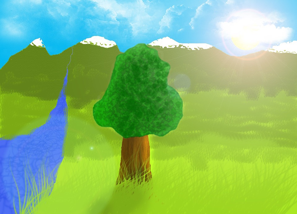Nature, Tree, Seascape, Landscape, Summer, Creek, Sky