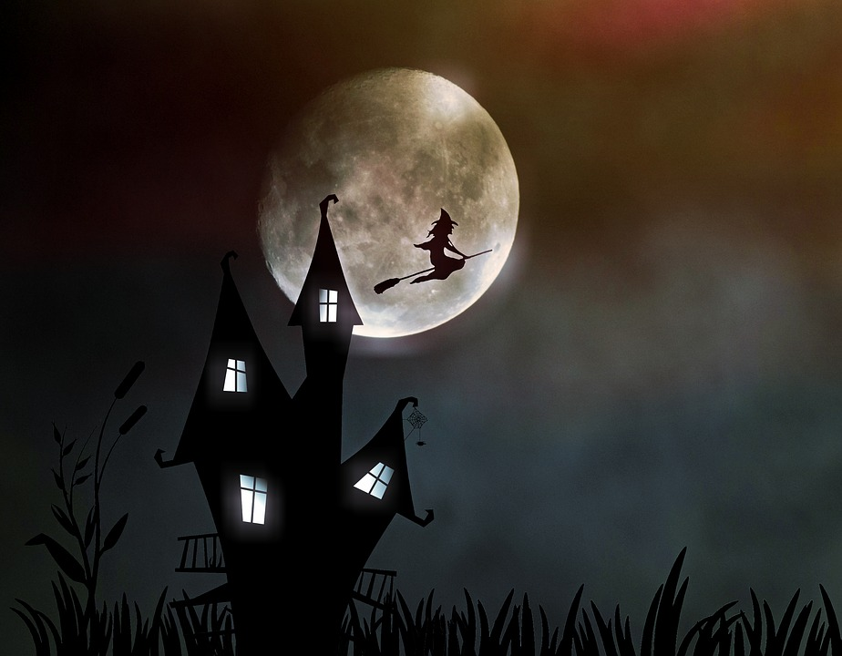 Witch's House, The Witch, Moonlight, Creepy, Halloween