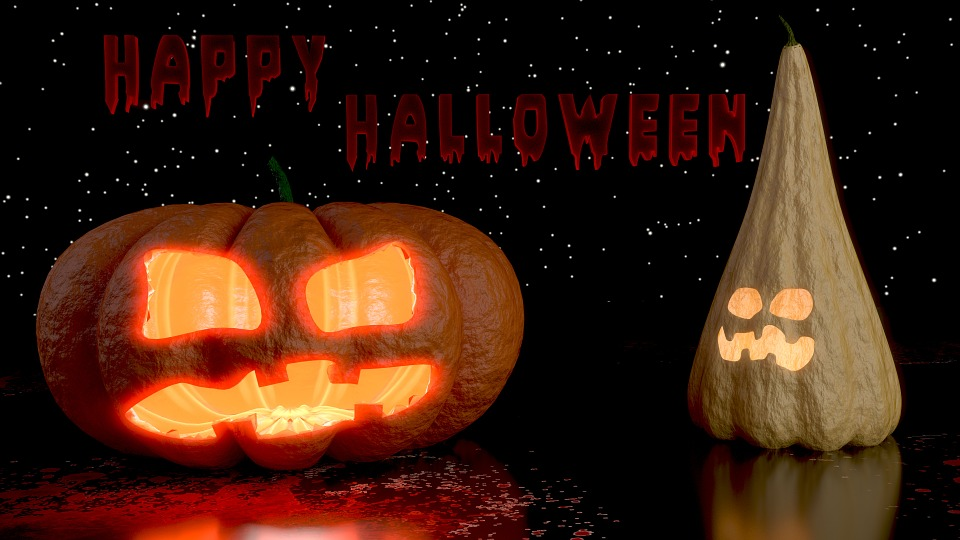 Halloween, Pumpkin, Creepy, 3d, Blender