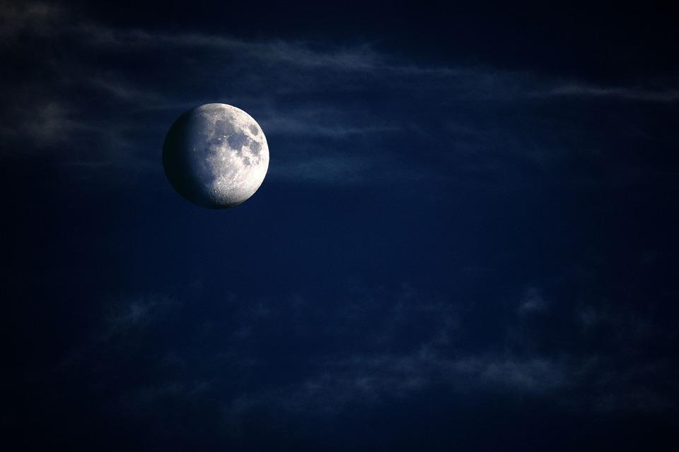 Moon, Night, Plastic, Crescent, Increasingly