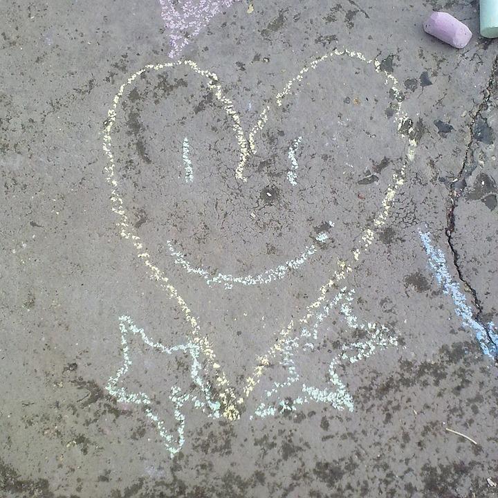 Cretaceous, Heart, Love, City, Smiley