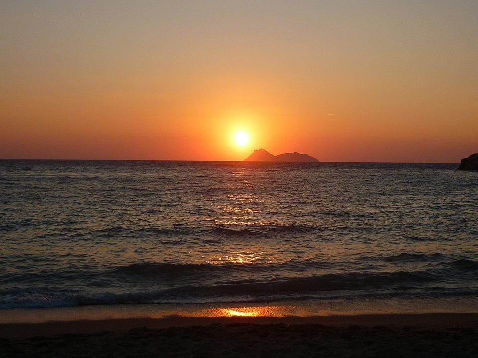 Agia Galina, Crete, Sunset