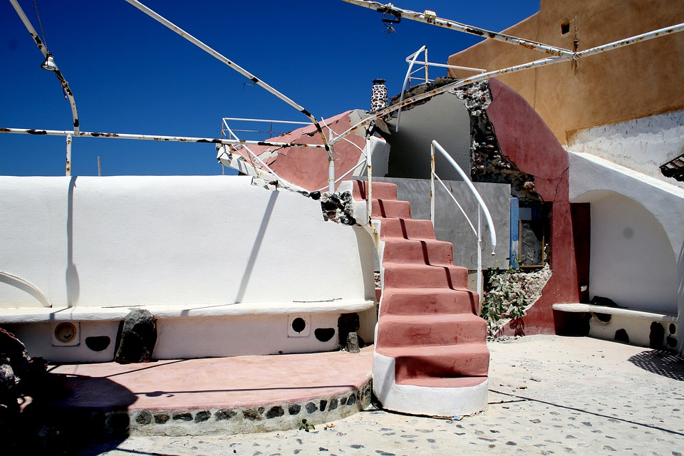 Earthquake, Building, Destruction, Crete, Santorini