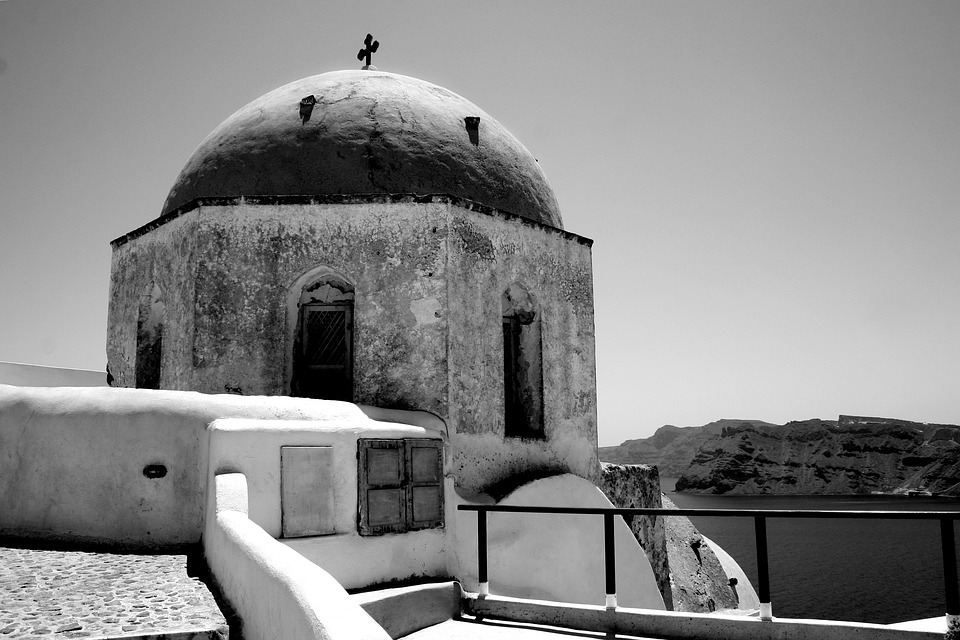 Crete, Dome, Santorini