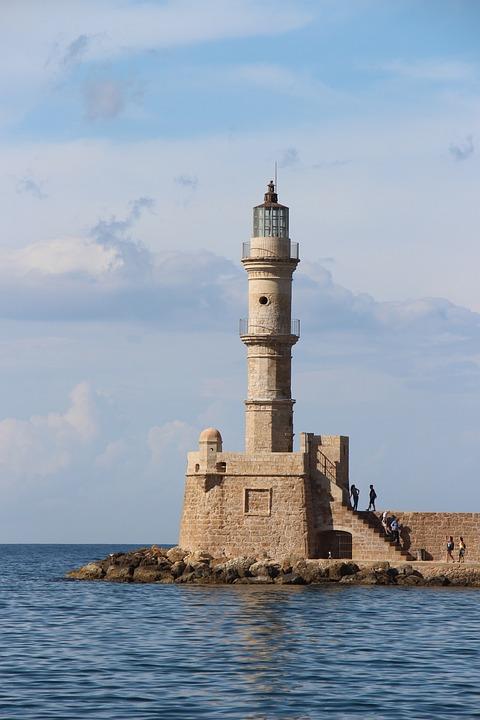 Ancient Lighthouse, Lighthouse, Mediteran, Crete