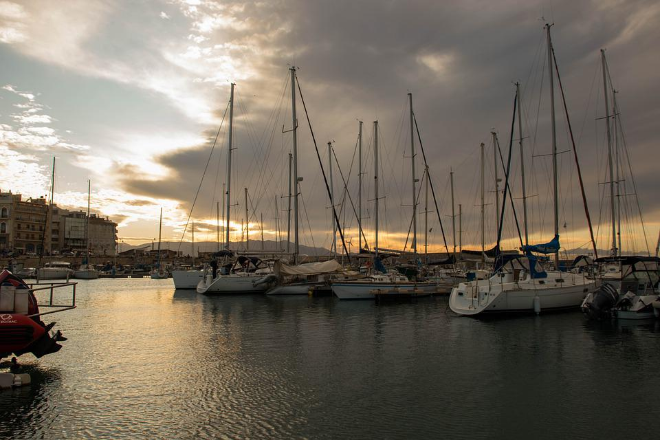 Crete, Island, Port, Sailboat, Greece, Holidays, Sea