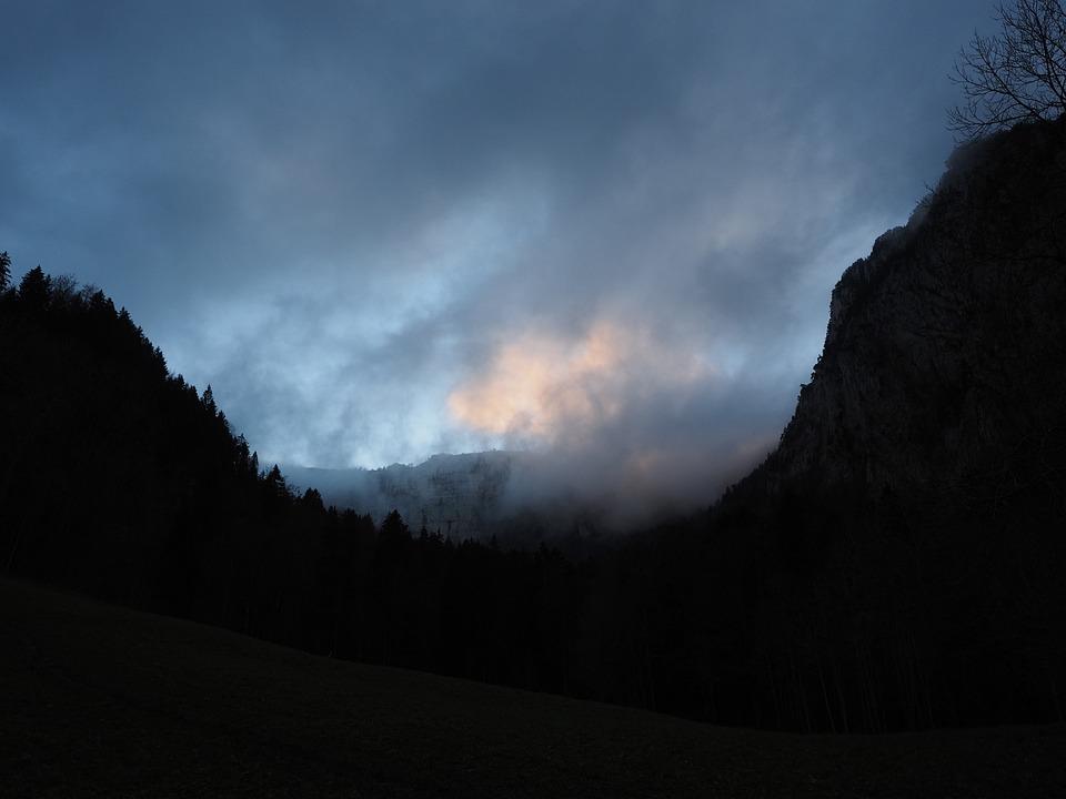 Creux Du Van, Swiss Jura, Noiraigue, Ausräumungskessel