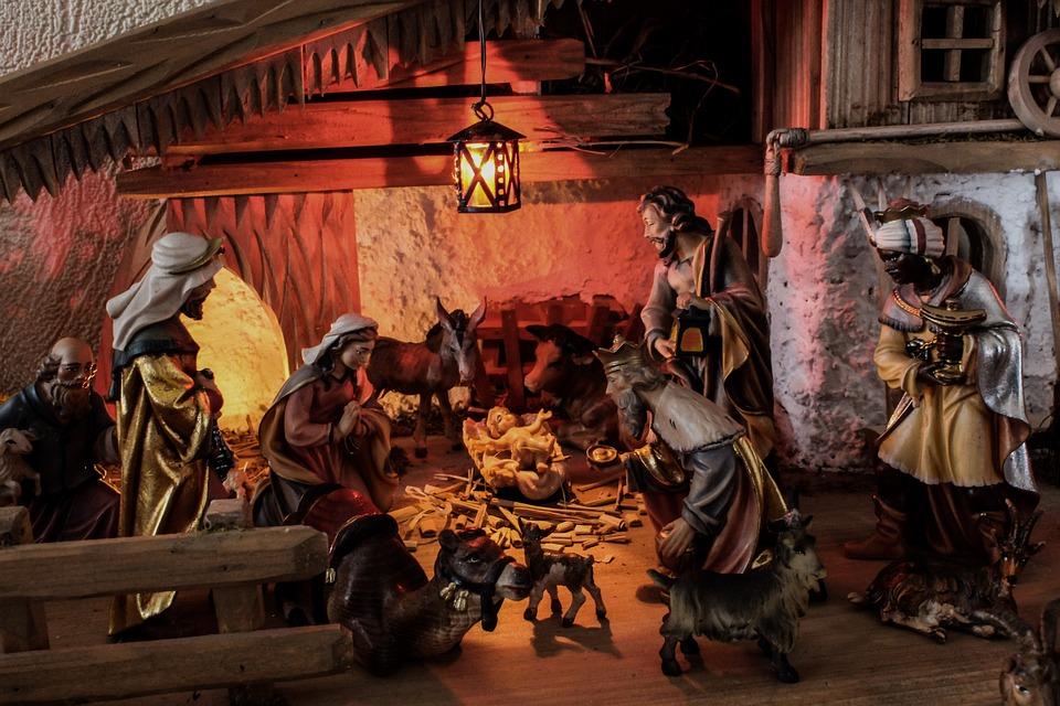 Christmas, Father Christmas, Crib, Stall, Christmas Eve