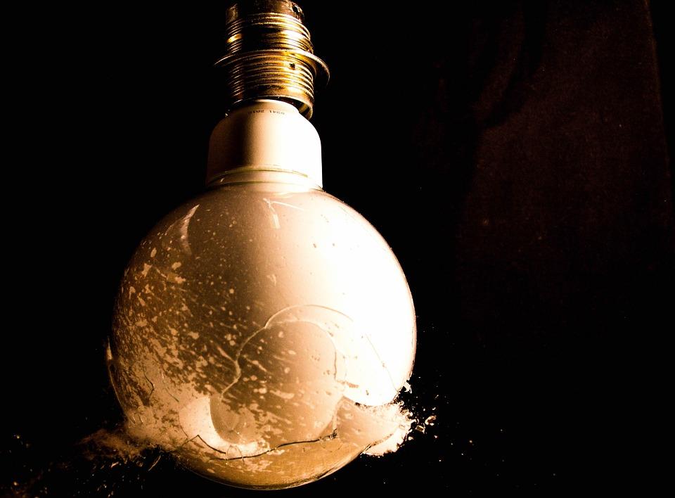 Light Bulb, Shot, Bullet, Broken, Bullet Hole, Crime