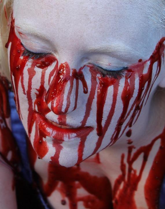 Zombie, Undead, Monster, Brutal, Crime, Face, Blood