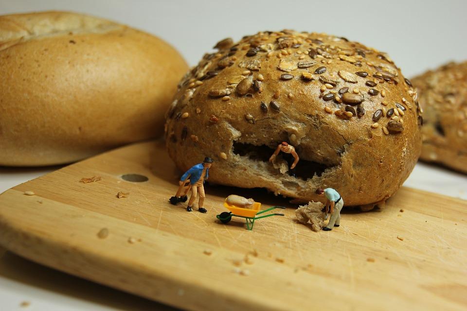 Breakfast, Roll, Miniature Figures, Food, Eat, Crispy