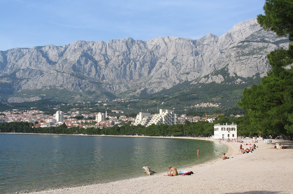 Croatia, Makarska, Beach