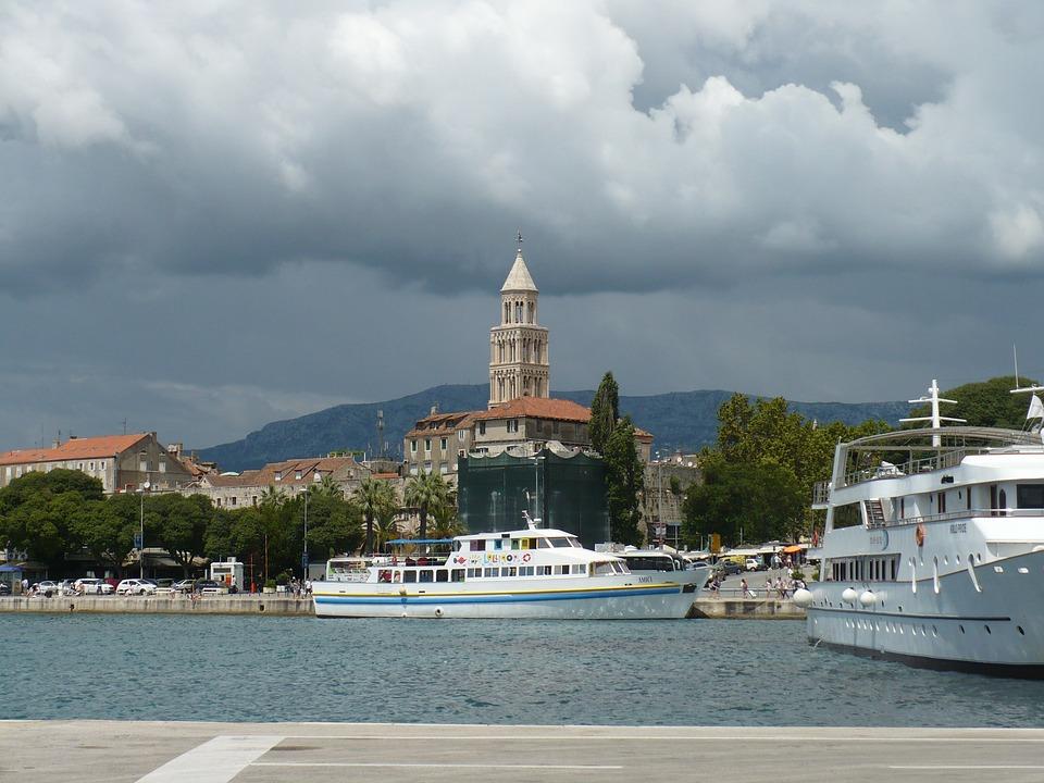 Croatia, Clouds, Ship