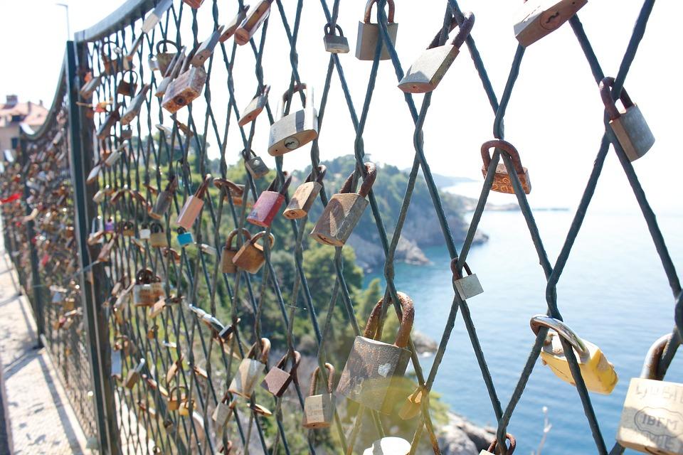 Padlocks, Fence, Croatia, Love, Heart, Recorded