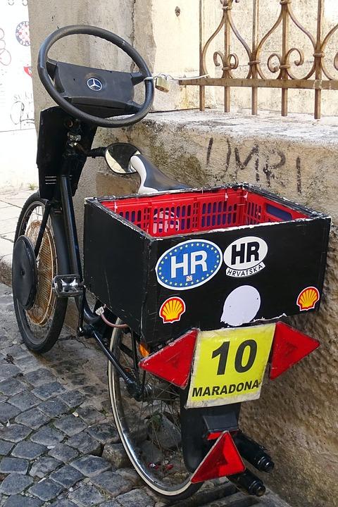 Bike, Croatia, Old, Funny, Two Wheeled Vehicle, Wheel