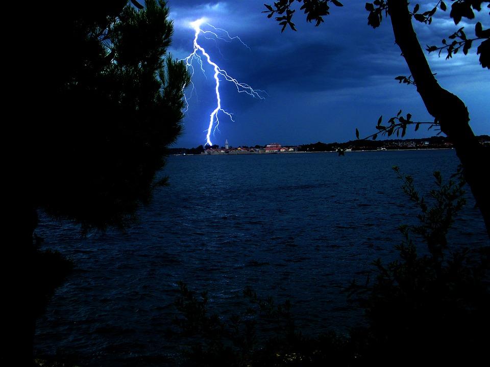Lightning, Storm, Sea, Croatia