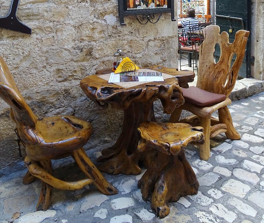 Croatia, Split, Streetscape, Alley, Seating Arrangement