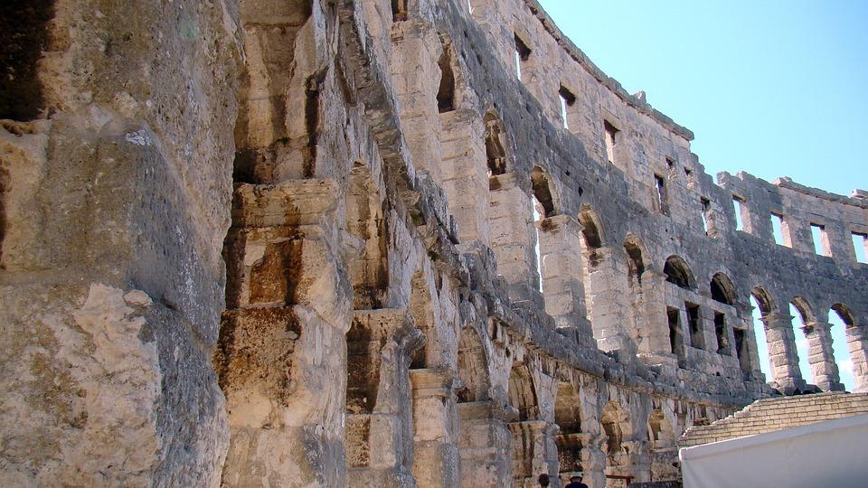 Croatia, Pula, The Amphitheater, The Coliseum, Antique