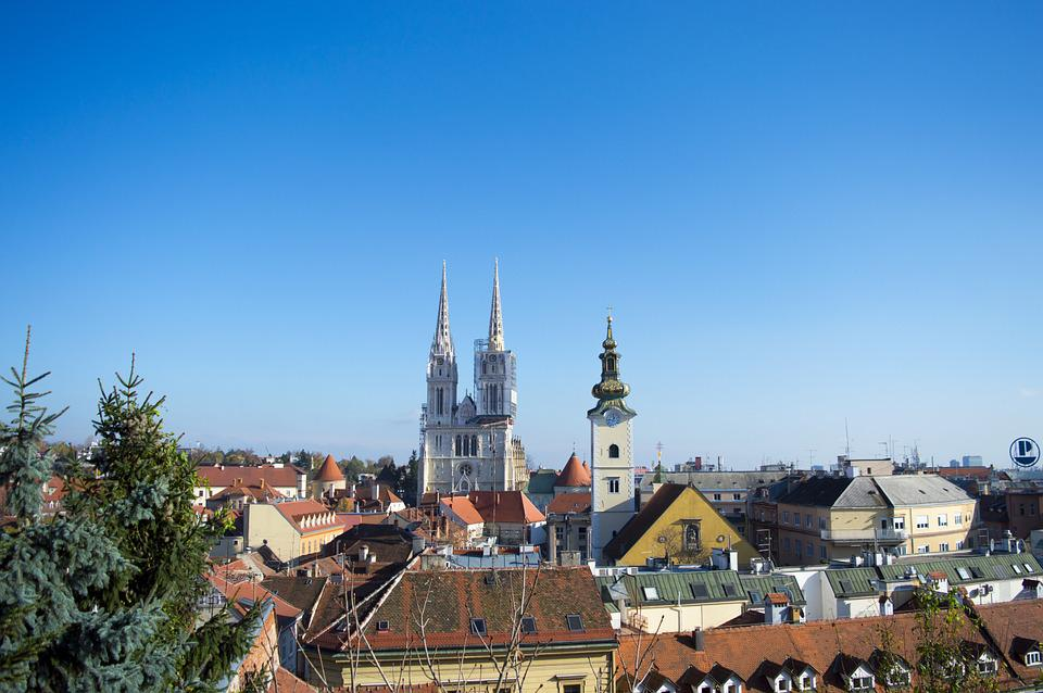 Zagreb, Croatia, Cathedral, City, Europe, Town