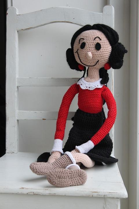 Free Photo Crochet Doll Crochet Pattern Popeye Cone Long Doll Max