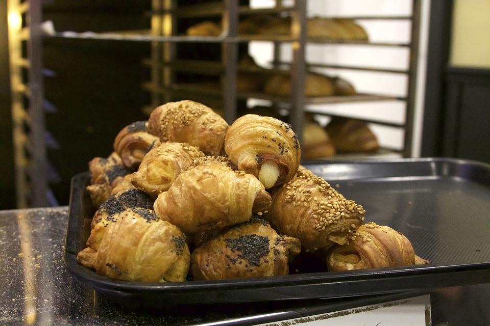 Croissants, Pastry, Food, Bakery, Snack, Bun, Fresh