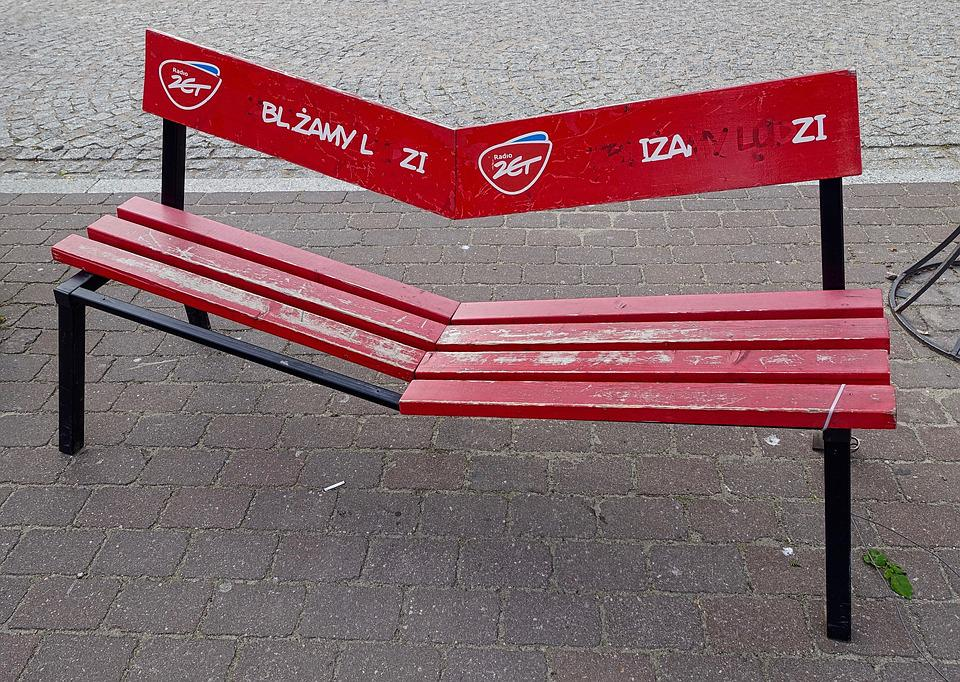 Seat, Bench, Crooked, Outdoor, Decoration