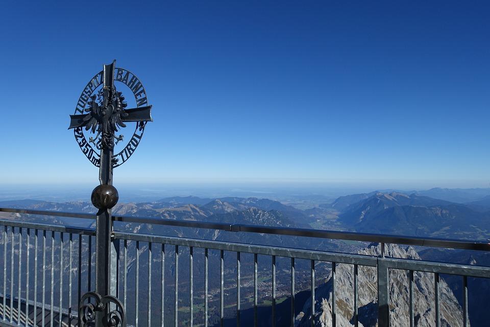 Zugspitze, Cross, Alpine, Summit, View, Mountains