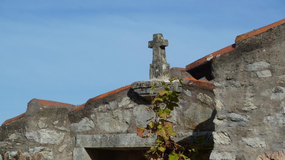 Old Architecture, Cross, Symbols, Religion, Brick