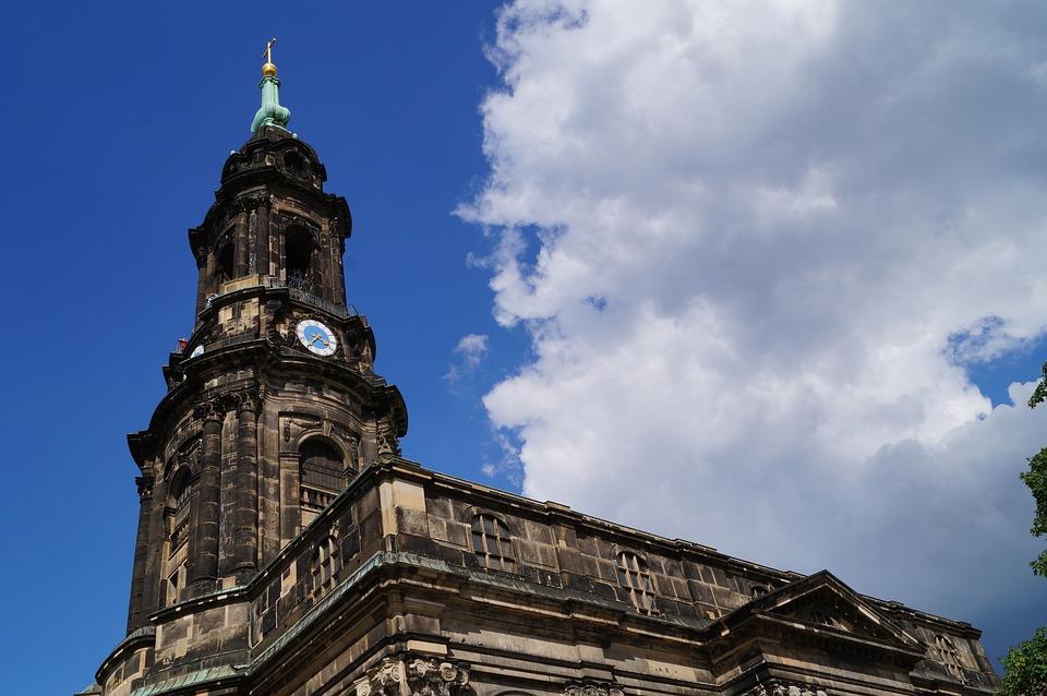 Church, Bell Tower, Cross Church, Dresden, Historically