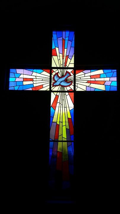 Stained Glass, Church Window, Cross