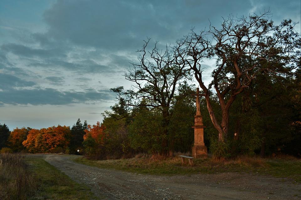 Cross, Autumn, Landscape, Tree, Atmosphere, Colors
