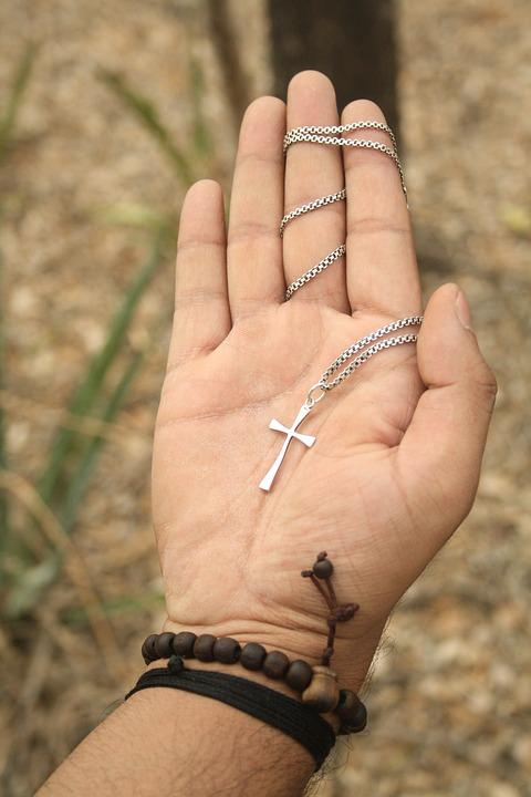 Hand, Forest, Cross