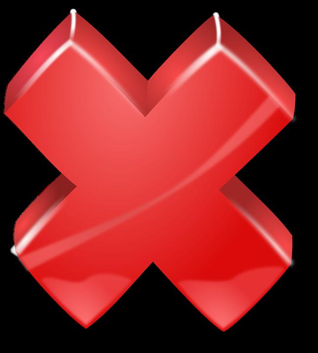 Cross, Red, Alert, Error, Incorrect, Problem, Retry