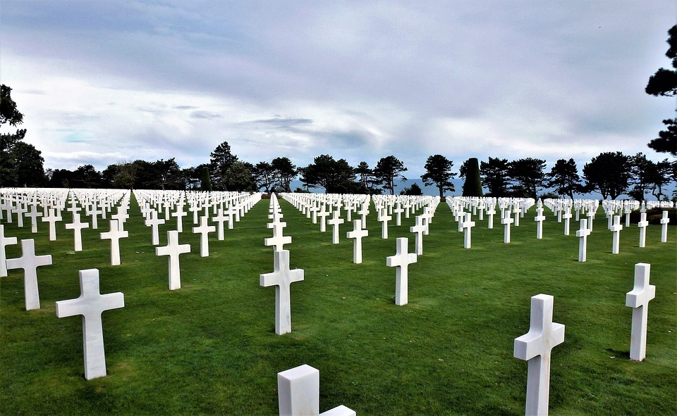 France, Normandy, Cemetery, Cross, Falls, Tomb Stone