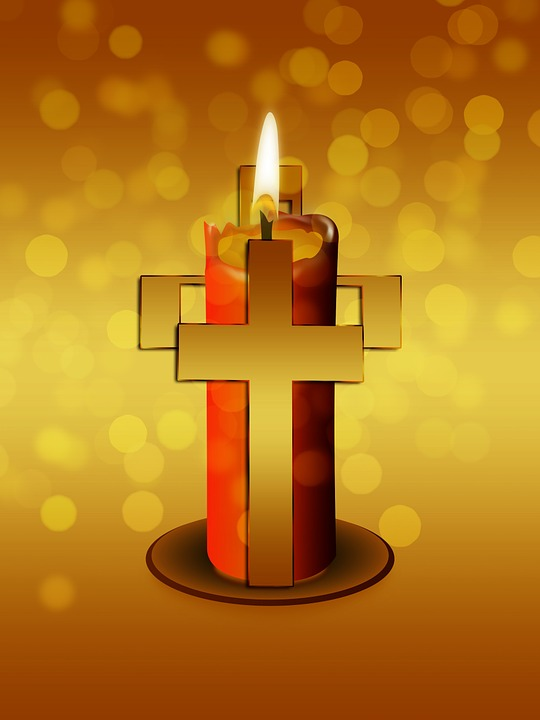 Free Photo Cross Religion Believe Faith Christianity Candle Max Pixel