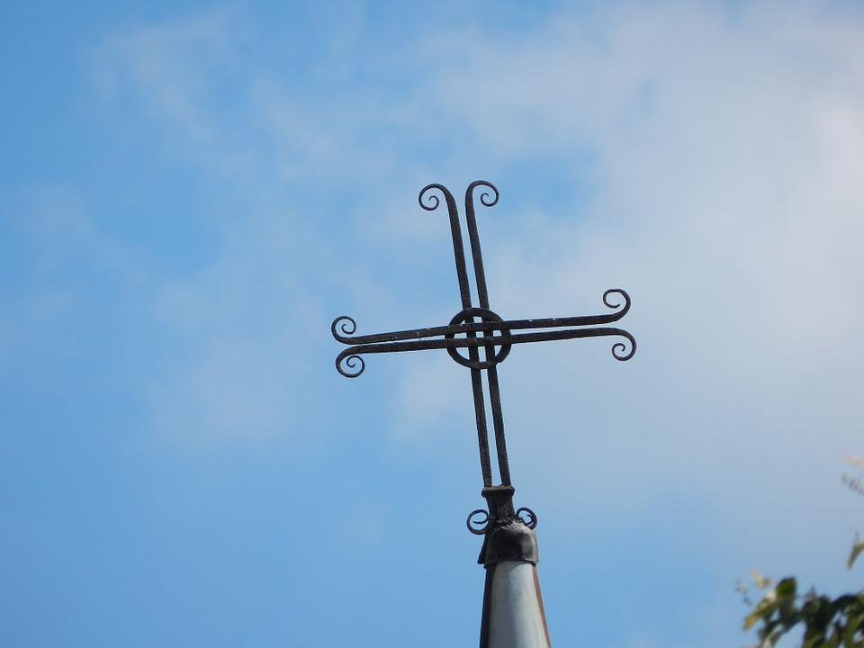 Cross, Wrought Iron, Roofing