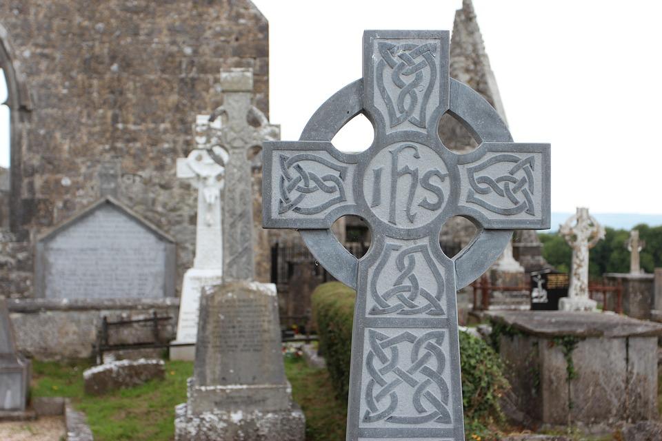 Ireland, High Cross, Cross, Cemetery, Ruin, Tombstone