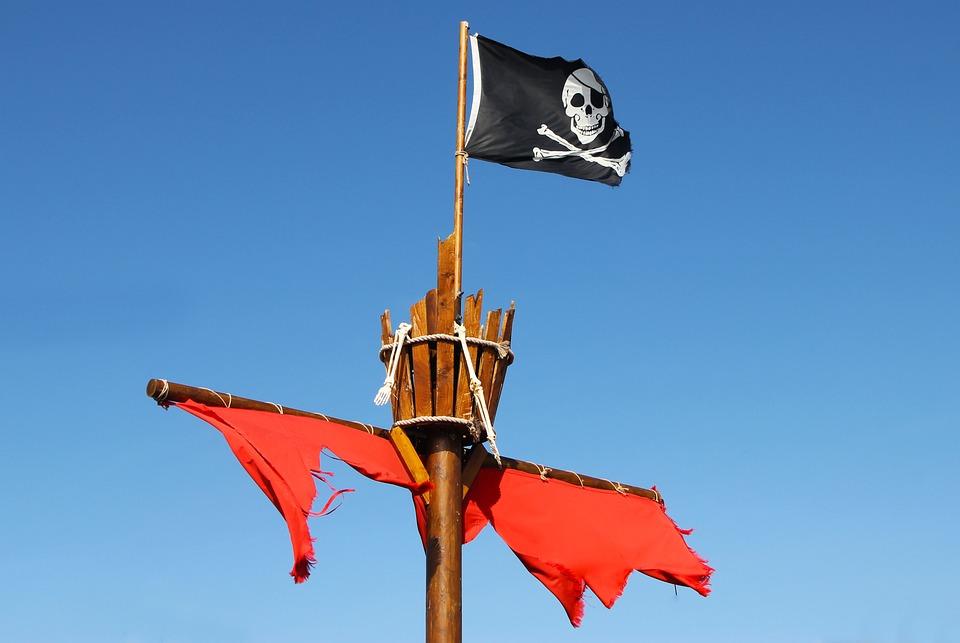 Pirate, Flag, Crows Nest, Symbol, Boat, Crossbones