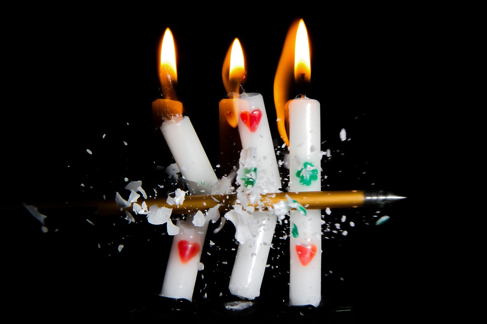 Candle, Light, Flame, Fire, Burn, Arrow, Crossbow