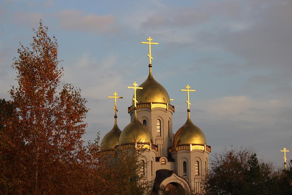 Church, Crosses, Dome