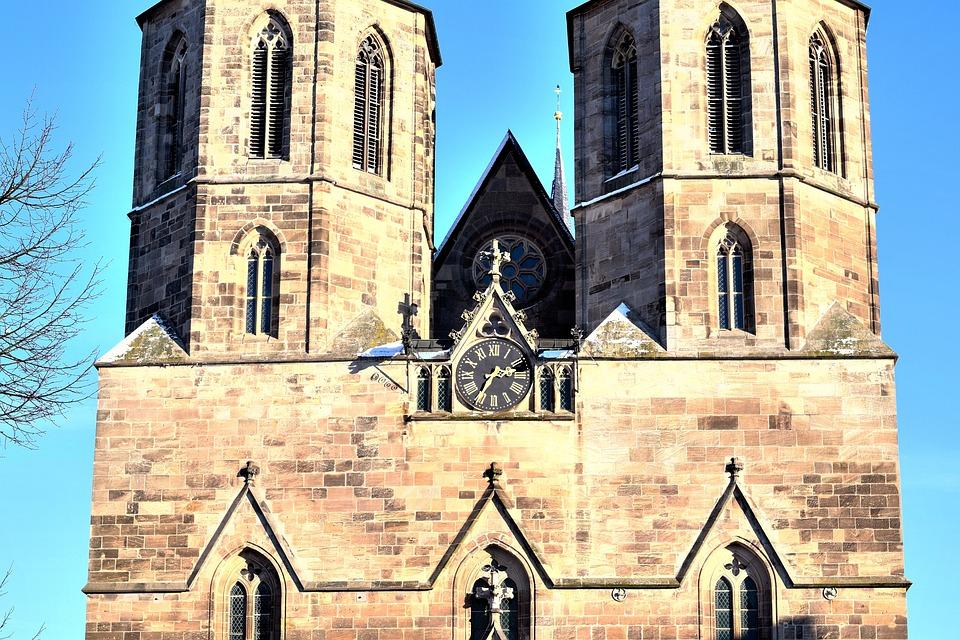 Masonry, Church, Building, Gothic, Historical, Crosses