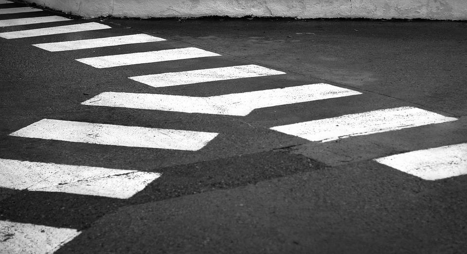 Pedestrian Crossing, Lines, Abstract, Crossing, Black