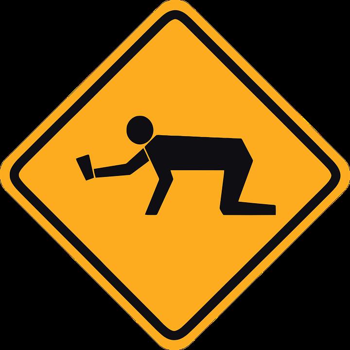 Warning, Crossing, Road, Street, Signs, Students