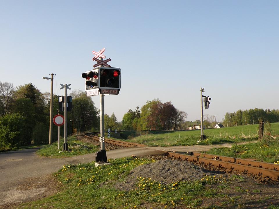 Track, Crossing, Train Crossing, Railroad Tracks