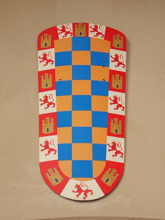 Coat Of Arms, Castilla, Crown, Castle