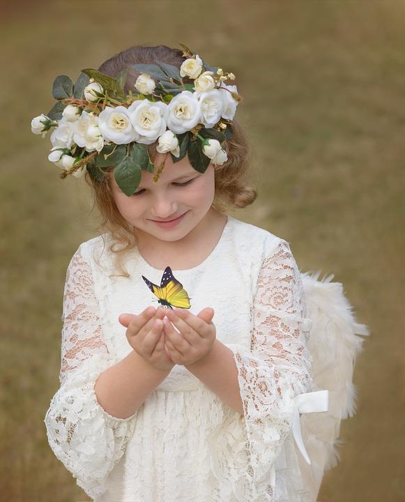 Flower Crown, Child, Beautiful, Flower, Crown, Portrait