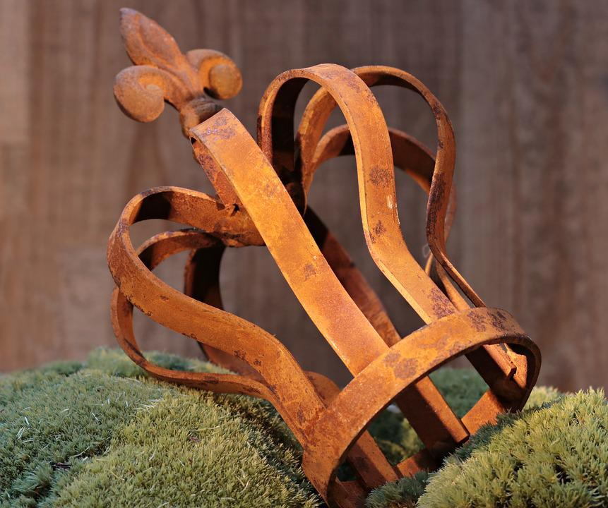 Crown, Moss, Head Ornament, Stainless, Rust Crown