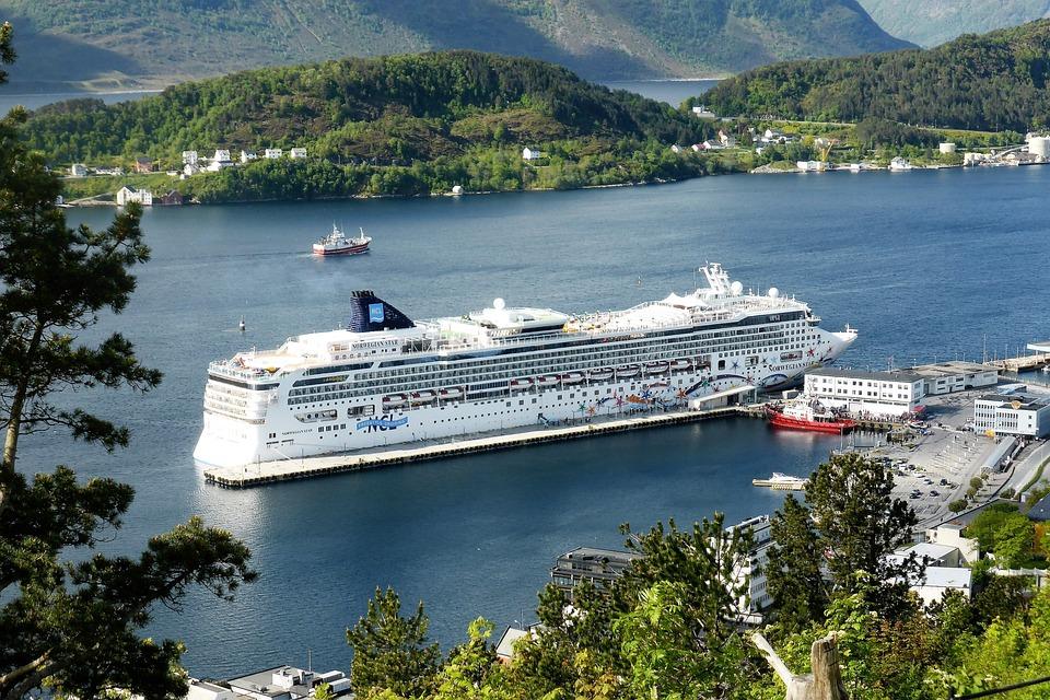 Cruise, Boat, View, Cruise Ship, Bay, Quay, Norway